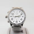 Nixon Men's 51-30 Chronograph White Face Dial Stainless Steel Quartz Watch