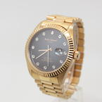 Andre Giroud Diamond Dial Gold Tone Automatic Watch Limited Edition 718/999