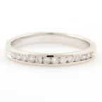 NEW Classic 14K White Gold Natural Diamond 0.25CTW Wedding Anniversary Ring Band