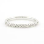 Modern Ladies 14K White Gold Diamond 0.30CTW Anniversary Ring Band