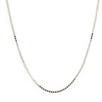 "NEW Modern 14K White Gold 18"" Box Chain Lobster Claw Clasp Jewelry"