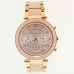 Ladies Michael Kors MK-5896 Parker Blush Rose Stainless Steel Chronograph Watch