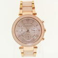 Ladies Michael Kors MK-5896 Parker Blush Rose Stainless Steel Chronograph Watch