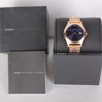 Ladies Marc Jacobs MBM3316 Slim Blue Rose Tone Stainless Steel Watch