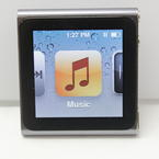Apple Nano Shuffle  6th Generation Mc688LL Silver 8GB Touch Screen MP3 Player