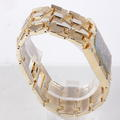 Bulova Diamond Quartz 3063 5020 18k Gold Nugget Men's  Watch