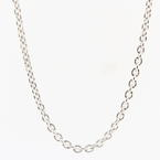 Estate 925 Silver 24 inch Link Lobster Claw Clasp Chain Necklace