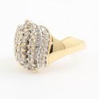 Ladies Vintage Classic Estate 10K Yellow Gold Diamond Cocktail Ring - 0.60CTW
