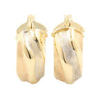 Classic Ladies 14K Yellow Gold Huggie Hoop 20MM Earrings