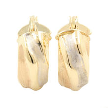 Classic Ladies 14K Yellow Gold Huggie Hoop 20MM Earrings