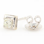 Modern Estate 14K White Gold Diamond 0.25CTW Single Stud Earring