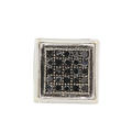 Modern Estate 10K White Gold Black Diamond 0.15CTW Single Push Back Stud Earring