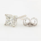 Classic Modern Estate 14K White Gold Diamond 0.30CTW Single Stud Earring