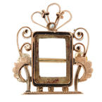 Antique Estate 14K Rose Gold Pearl Frame Ornate Pin Brooch Jewelry