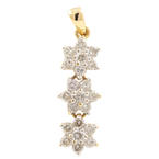 "Vintage Ladies 14K Yellow Gold Rosita Diamond 0.50CTW 25"" Pendant"