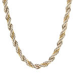 "Authentic Tiffany&Co. Sterling Silver 925 18K Yellow Gold 24"" Rope Chain"