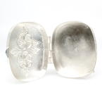 Rare Vintage Estate Mervin's Sterling Silver 925 Floral Motif Pill Box