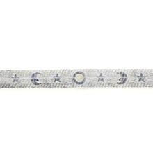 Estate 925 Silver Star Moon Celestial  Herringbone 7 Inch Lobster Claw Clasp Bracelet