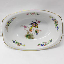 Epiag Czechoslovakia Serving Bowl Exotic Bird & Flowers Design China Dish