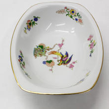 Epiag Czechoslovakia Serving Bowl Exotic Bird & Flowers Design China Dish