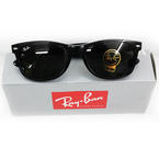 "New ""Open Box"" Authentic Ray Ban ORB2132 901L 55 Black Wayfarer Sunglasses"