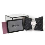 NEW Ladies Bulova 96P101 10 Diamond-Accented MOP Dial Stainless Steel Watch