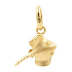 NEW Modern 18K Yellow Gold Stingray 20MM Charm Pendant
