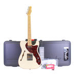 2013 Fender American Deluxe Telecaster Thinline Olympic White MC Electric Guitar