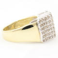 Vintage Classic Estate 10K Yellow Gold Diamond Pyramid Ring - 0.75CTW