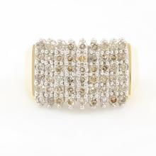 Vintage Classic  Estate 10K Yellow Gold Diamond Pyramid Ring - 0.75CTW