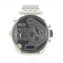 Diesel DZ7221 Big Daddy Black Dial Multi-Function Silver Men's Watch