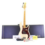Fender 2012 American Standard Precision Bass with Maple Olympic White Guitar + Original Hard Case