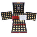1999-2009 24kt Gold Layered P&D State Quarters Complete Set 112 Coins Box