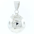 Estate 925 Silver 3D High Polished Globe Earth 35MM Pendant