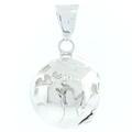 Vintage Estate 925 Silver 3D High Polished Unique Globe Earth - 35MM - Pendant
