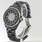 Authentic Chanel J12 38mm Diamond Dial Black Ceramic Automatic Watch