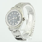Authentic Ladies Rolex Oyster Perpetual Diamond Datejust Stainless Steel Watch