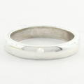 Estate 925 Silver High Polished Comfort Ring Band Size 3.75