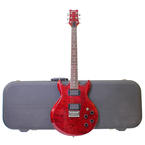 Ibanez Red 6 String Electric Guitar and Hard case