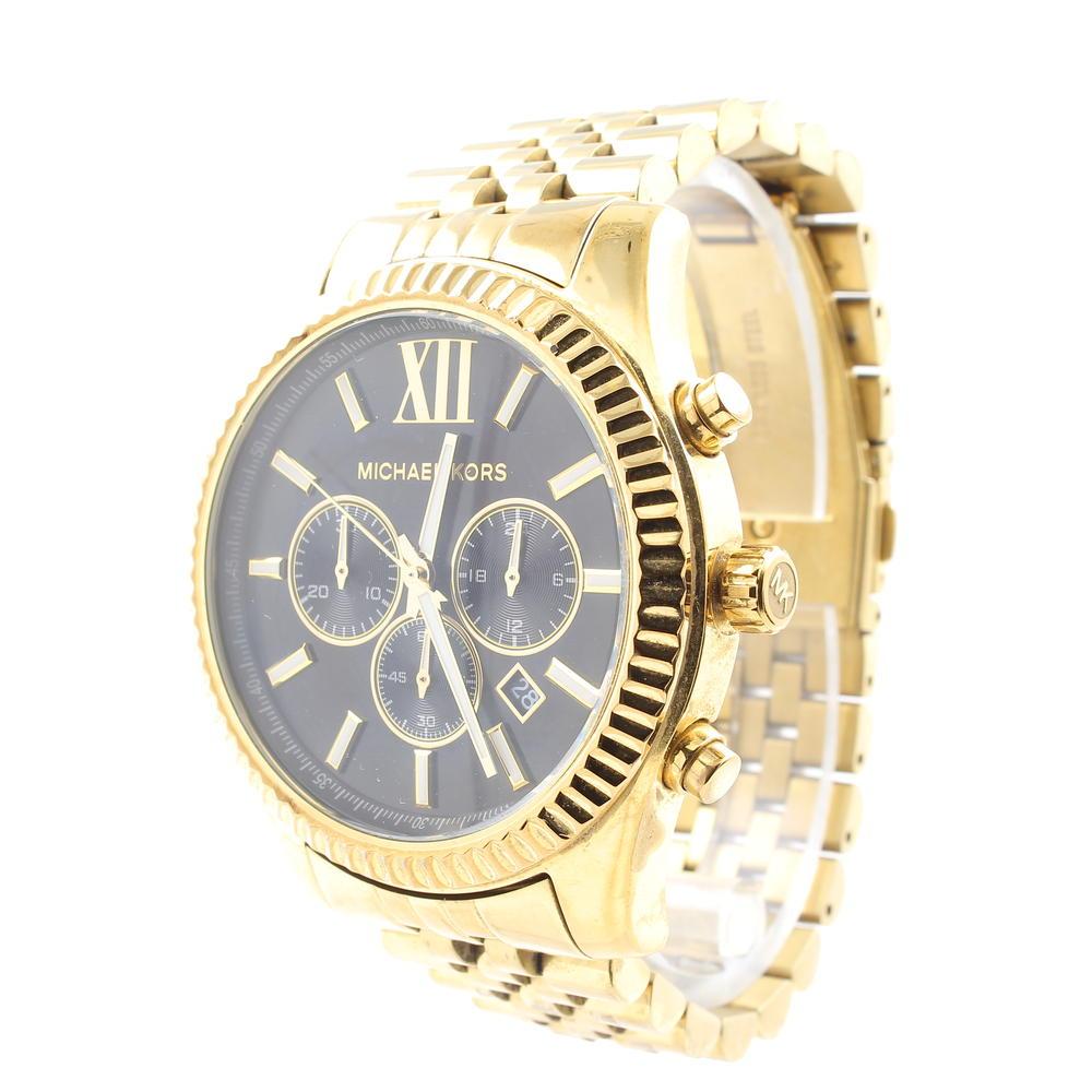 940ed9e4d72a Men s Michael Kors MK-8286 Lexington Gold-Tone Stainless Steel Watch MK8286
