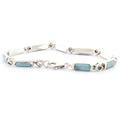 Vintage Estate Ladies 925 Silver Exquisite Turquoise Marcasite Bracelet - 7 Inch
