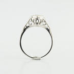 Art Deco 14K White Gold Filigree 0.39CTW Diamond Ladies Engagement  Ring