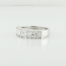 Stunning Princess Emerald Cut 2.75CTW Diamond White 18K Gold Wedding Band Ring