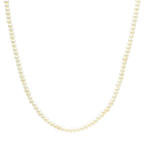 "Lustrous Estate 14K Yellow Gold Seed Pearl Strand 18"" Necklace Jewelry"