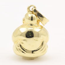 Estate 14K  Yellow Gold High Polished 20mm Hollow Buddha Charm Pendant