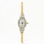 Estate Vintage Nicolet Quartz 14K Yellow Gold Diamond 1.98CTW Watch