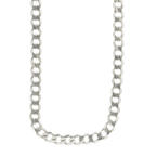 "Estate Men's 925 Sterling Silver Curb Link 28"" Lobster Claw Clasp Chain"