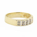 Beautiful Classic Estate 14K Yellow Gold Diamond Ladies Wedding Ring Duo Set