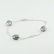 Tiffany&Co Retail $3,700 Elsa Peretti Platinum Tahitian Pearl Diamond Bracelet