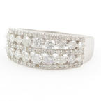 Modern 14K White Gold Diamond 1.40CTW Anniversary Right Hand Ring